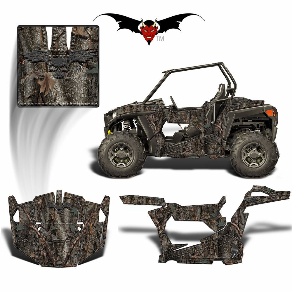 RZR 900 S GRAPHICS WRAP - HIDDEN OAK CAMOUFLAGE - Speed Demon Wraps