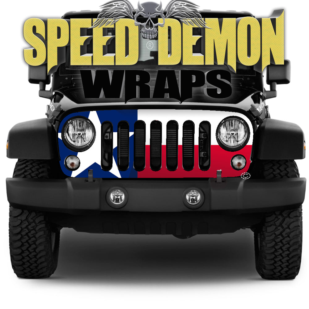 2007-2018 Jeep Grill Wraps Texas Flag