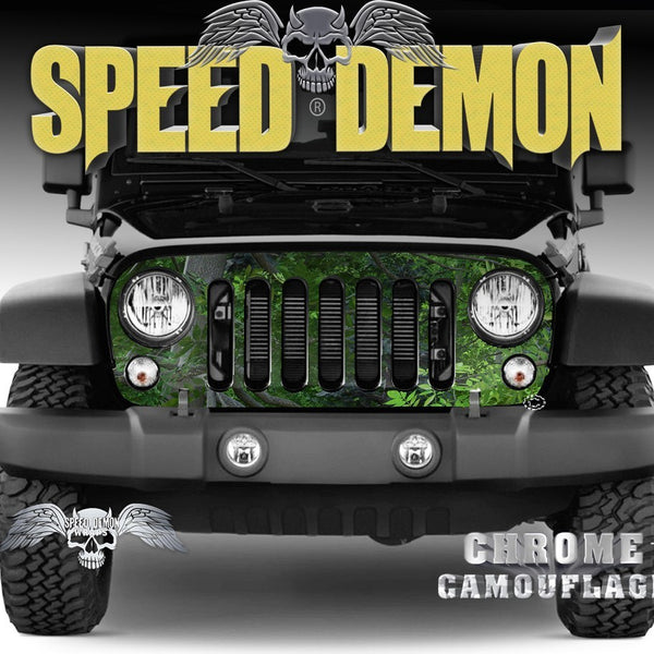 2007-2018 Jeep Grill Wraps Forest Camo 2007-2018 JK - Speed Demon Wraps