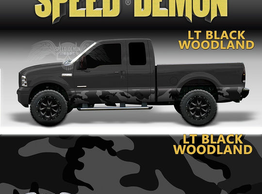 Rocker Panel Wrap Camo Kit Lt Black Urban Camouflage - Speed Demon Wraps