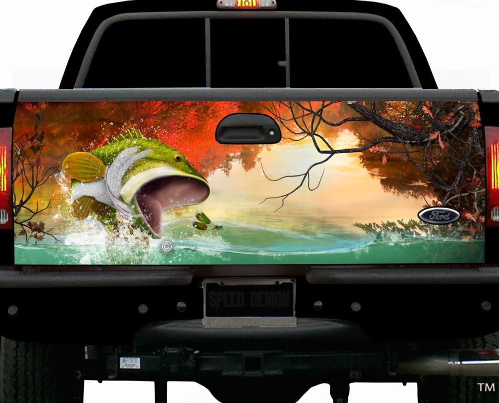 Tailgate Wraps Largemouth Bass