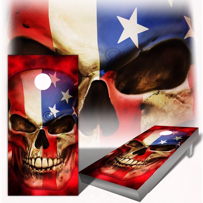 American Flag Patriot Cornhole Board Wraps - Speed Demon Wraps