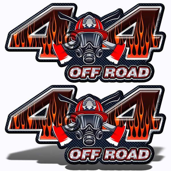 Fire Fighter 4x4 Decals - Speed Demon Wraps