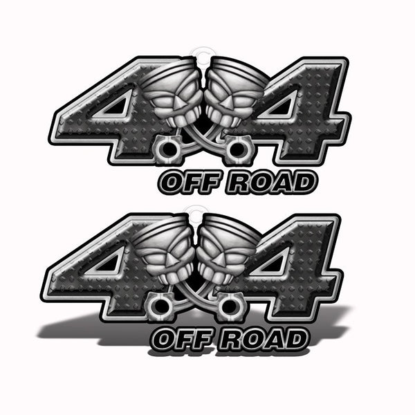 4x4 Off-Road Black Piston-Head Decals - Speed Demon Wraps