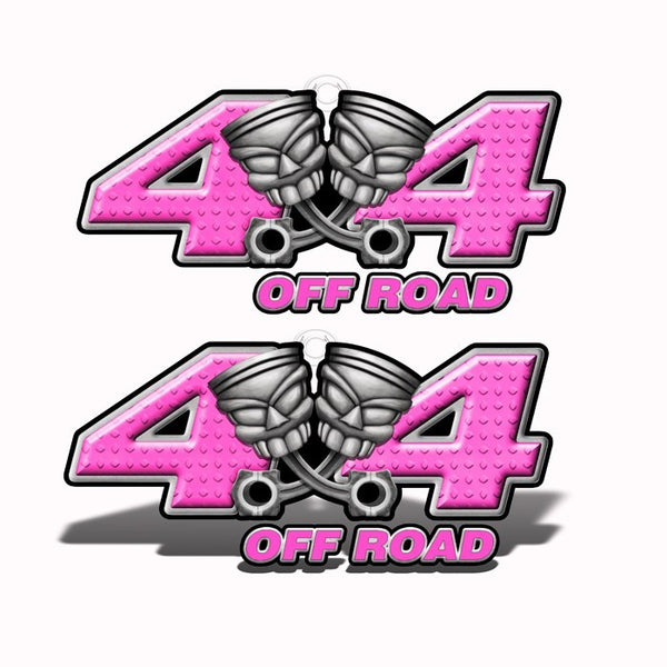 4x4 Off-Road Pink Piston-Head Decals - Speed Demon Wraps