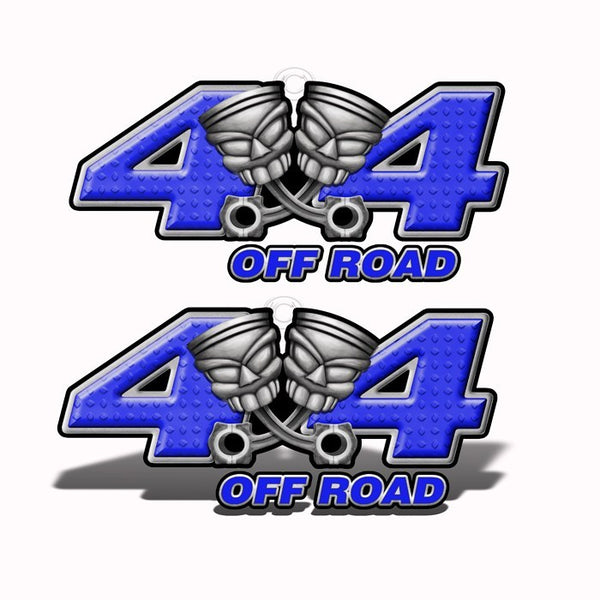 4x4 Off-Road Purple Piston-Head Decals - Speed Demon Wraps