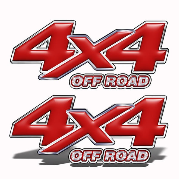 4x4 Off-Road Truck Decals Red - Speed Demon Wraps