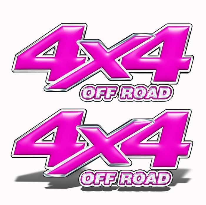 4x4 Off-Road Truck Decals Hot Pink - Speed Demon Wraps