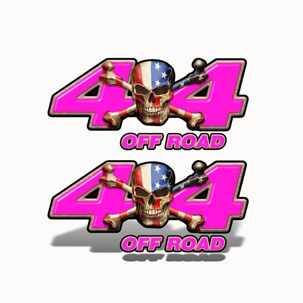 4x4 Off Road Decal Patriot Skull Pink - Speed Demon Wraps