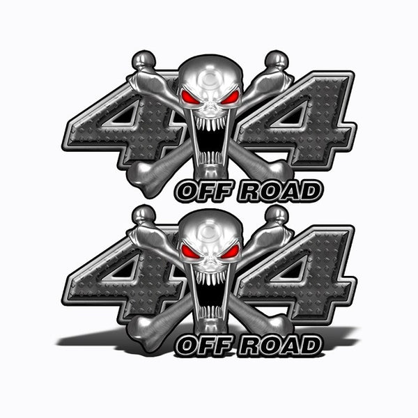 4x4 Off Road Stainless Steal Skull Black - Speed Demon Wraps