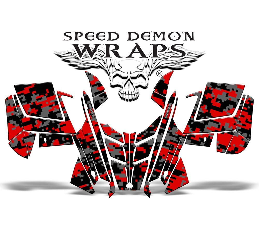 PRO RMK RUSH RED DIGITAL CAMO WRAP - Speed Demon Wraps