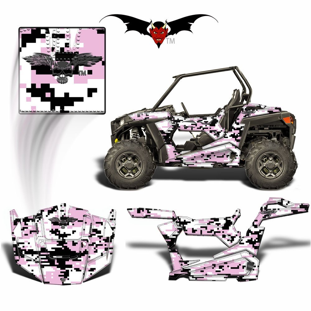 RZR 900 S GRAPHICS WRAP -  PINK  DIGITAL CAMOUFLAGE - Speed Demon Wraps