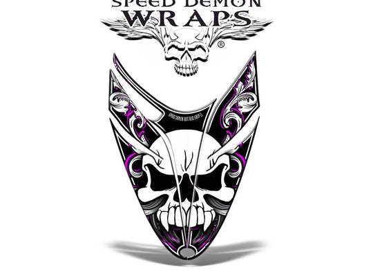 RMK Dragon Snowmobile Sled HOOD GRAPHICS WRAP DECAL Pink Skullen - Speed Demon Wraps