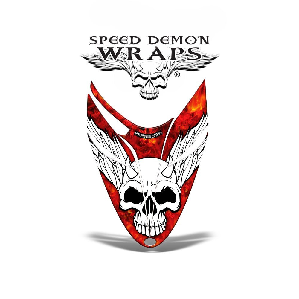 RMK Dragon Snowmobile Sled HOOD GRAPHICS WRAP DECAL Red Baron - Speed Demon Wraps
