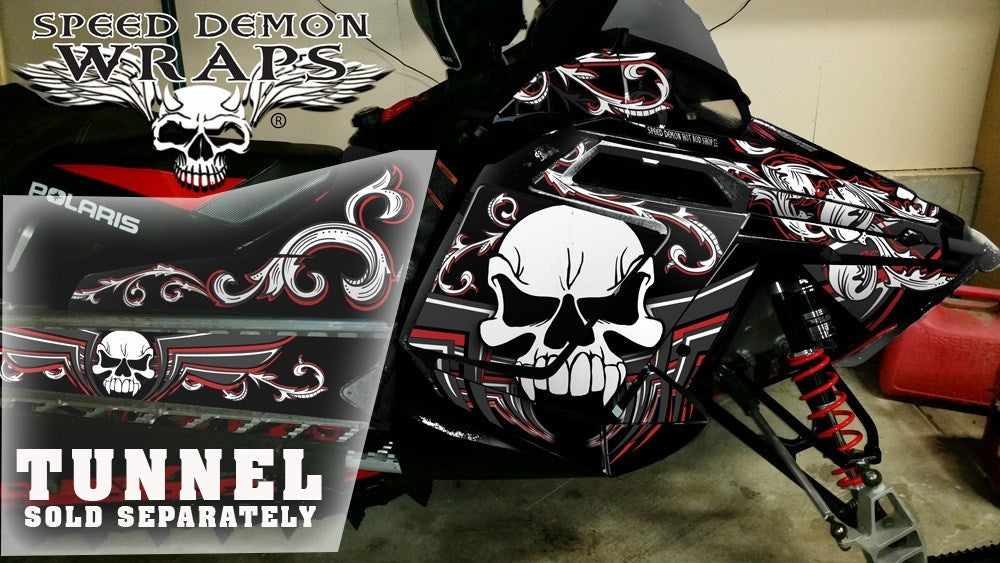 Pro RMK RUSH WRAP - SPEED DEMON RED SKULLEN - Speed Demon Wraps