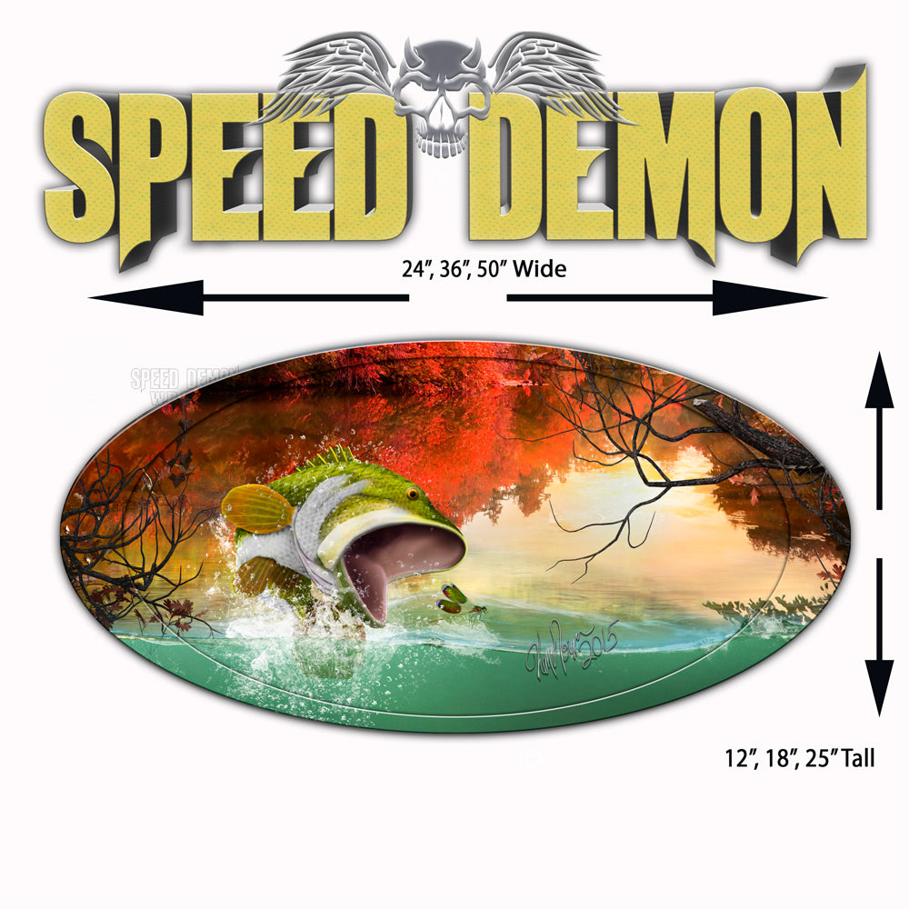 5th Wheel Trailer Graphics Bass Fly Fishing Wrap