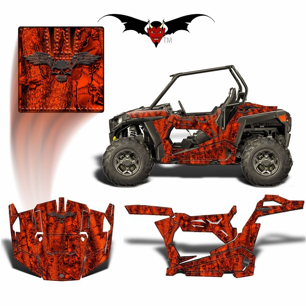 RZR 900 TRAIL GRAPHICS WRAP -  BLAZE CAMOUFLAGE - Speed Demon Wraps