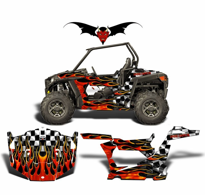 POLARIS RZR 900 TRAIL GRAPHICS WRAP KIT RACE WAY - Speed Demon Wraps