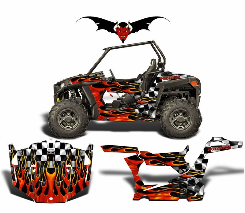 SKI-DOO XP WRAP KIT BLACK HOT ROD