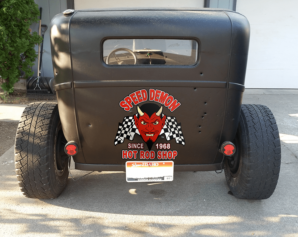 Speed Demon Hot Rod Shop Decal