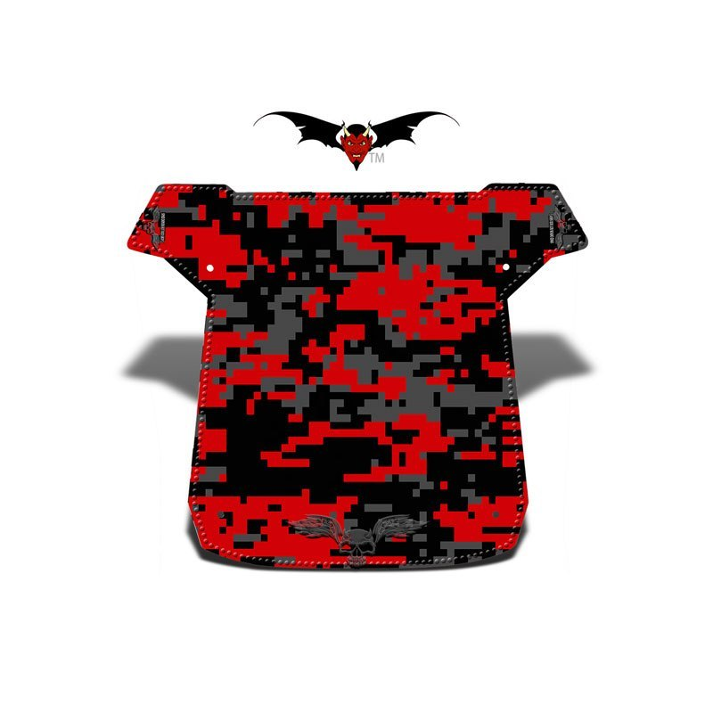 Red and Black Digital Camo XC Graphic Kits Roof