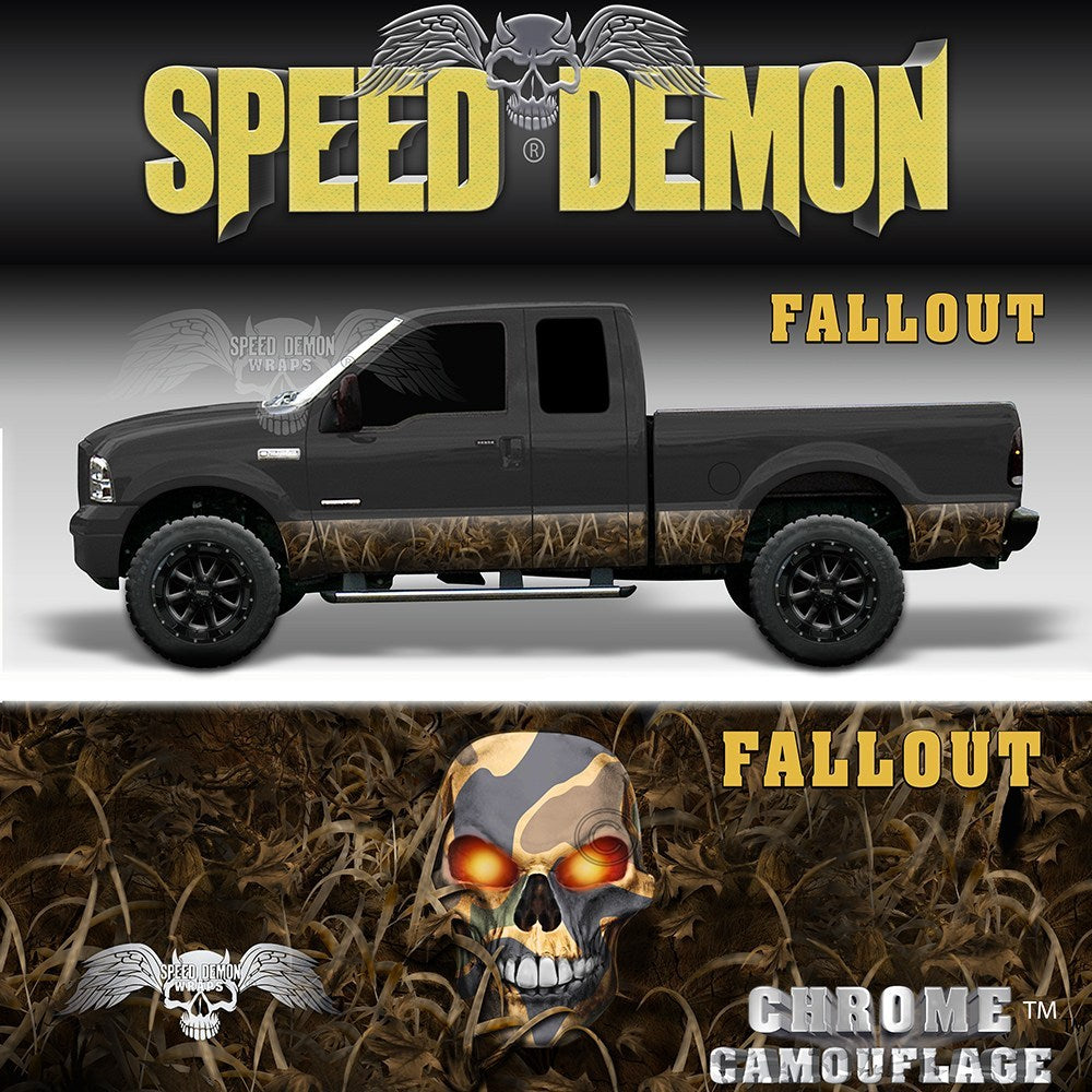 Fallout Rocker Panel Wrap Camo Kit - Speed Demon Wraps