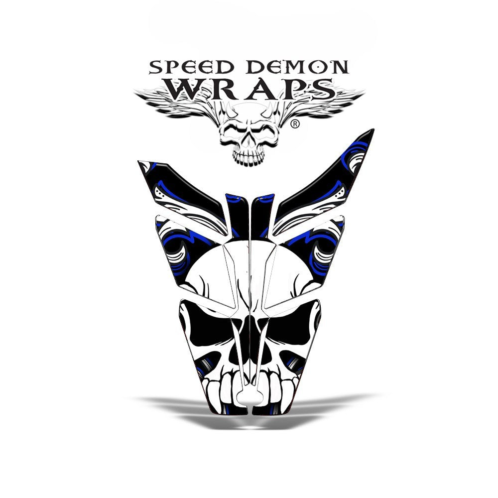 Pro RMK RUSH HOOD WRAP - SPEED DEMON BLUE SKULLEN - Speed Demon Wraps
