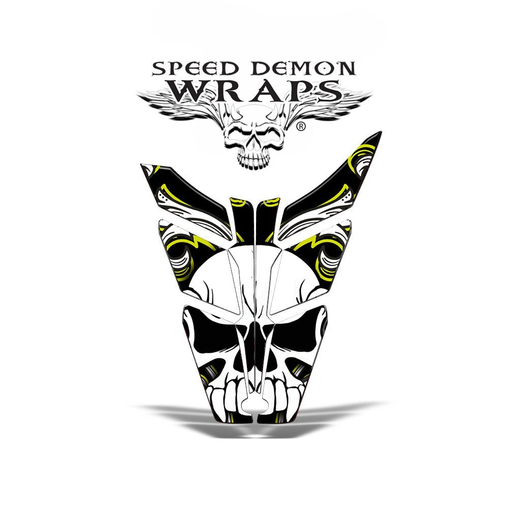 Pro RMK RUSH HOOD WRAP - SPEED DEMON YELLOW SKULLEN - Speed Demon Wraps