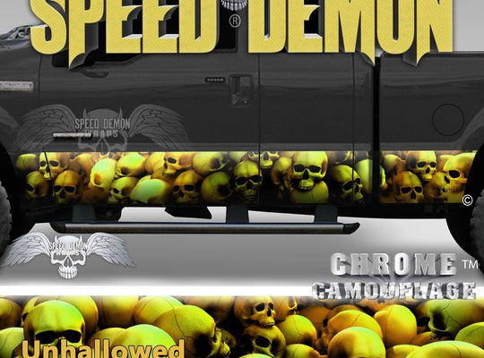 Skull Truck Rocker Panel Wraps Gold Skulls Unhallowed Ground