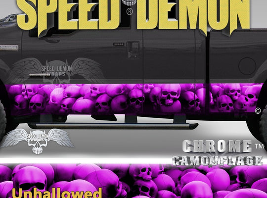 Skull Truck Rocker Panel Wraps Pink Skulls Unhallowed Ground