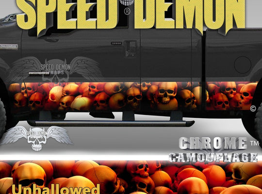 Skull Truck Rocker Panel Wraps Red Skulls Unhallowed Ground