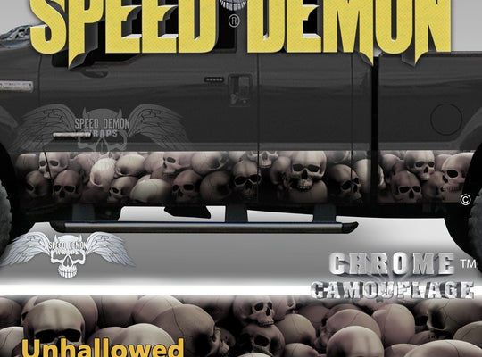 Skull Truck Rocker Panel Wraps Subdued Skulls Unhallowed Ground