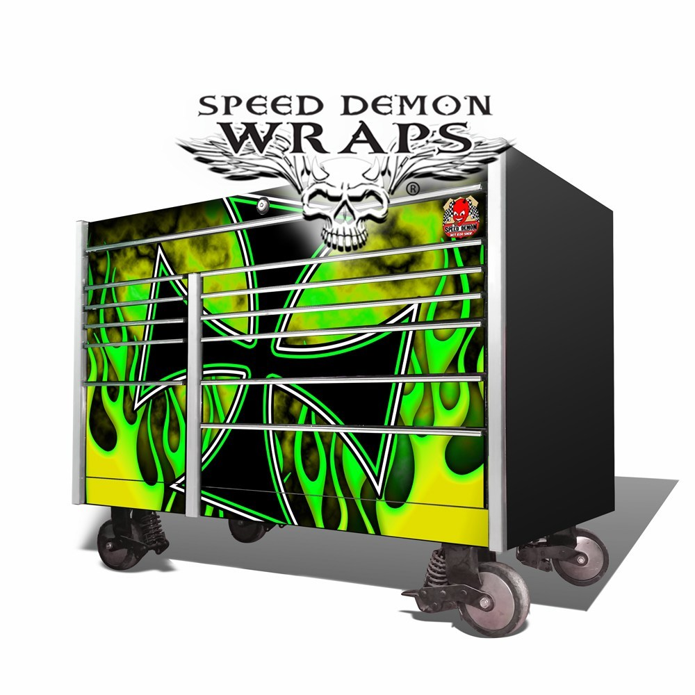 Snap-On KRL-7002 Old School Green-Yellow Toolbox Graphics Wrap