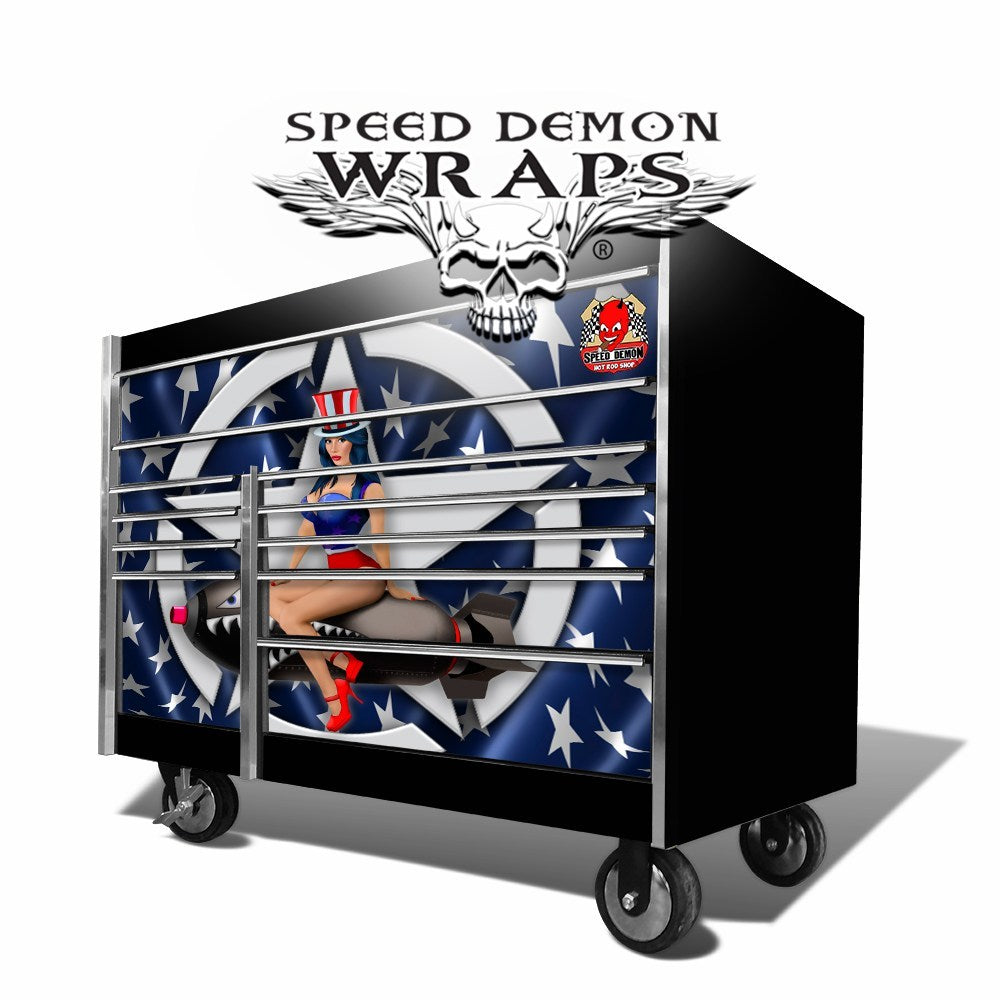 Snap On Toolbox Graphics Wrap American Pin Up Krl 7022