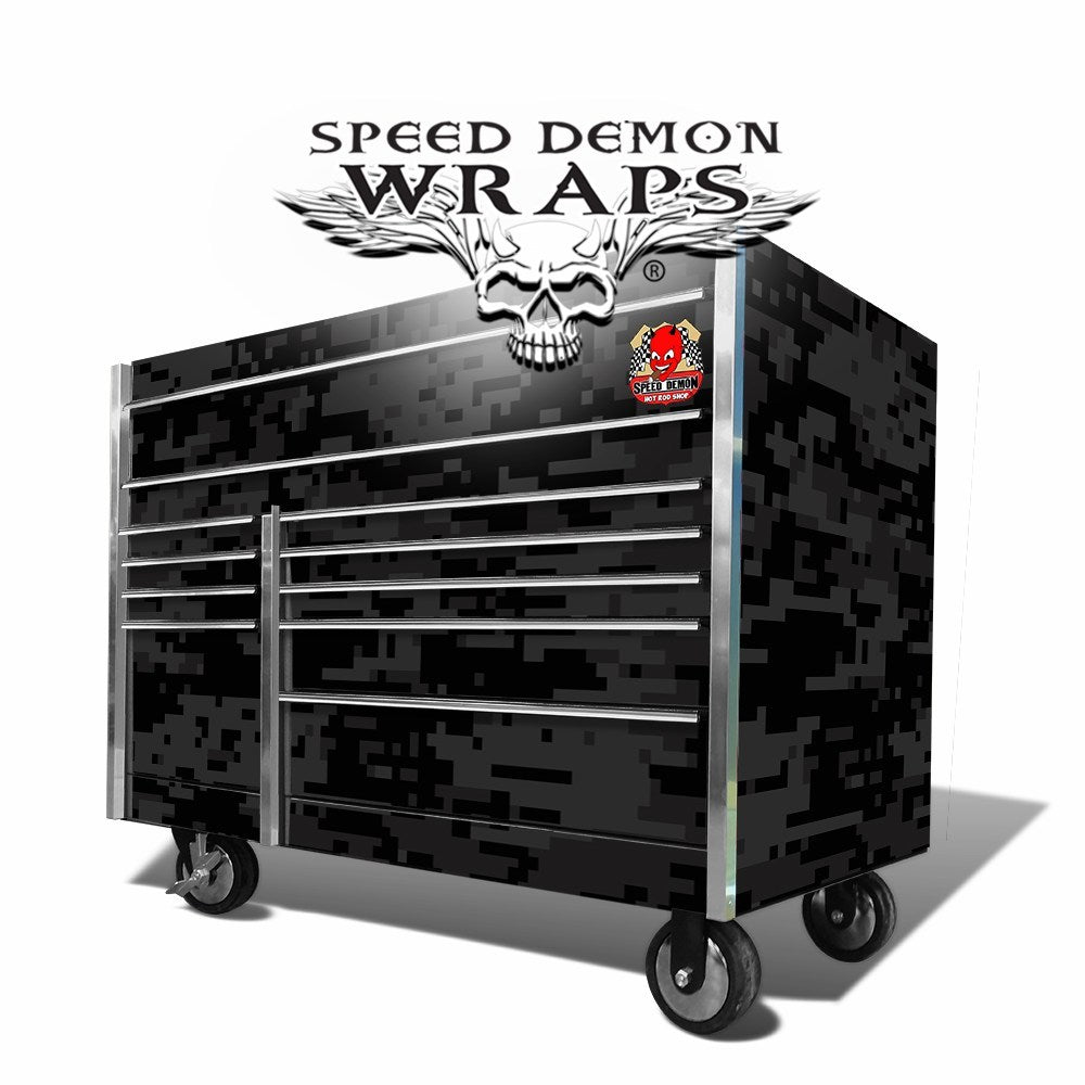 Snap On Tool Box Graphics Wrap Skins Black Digital Camo