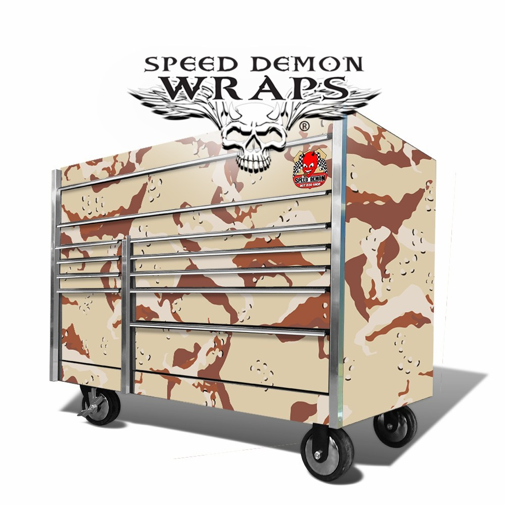 Snap On Tool Box Graphics Wrap Skins Desert Camouflage