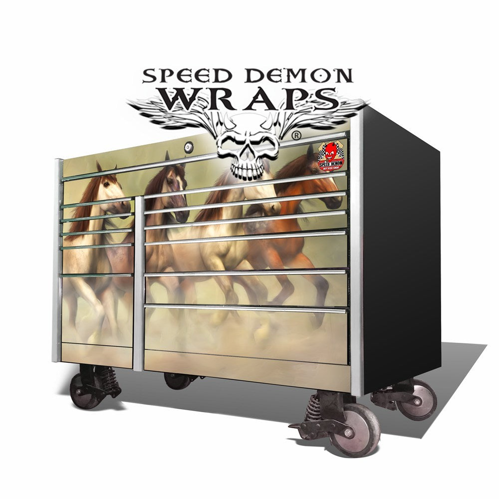Snap-On Toolbox Wrap Wild Mustangs KRL-7002
