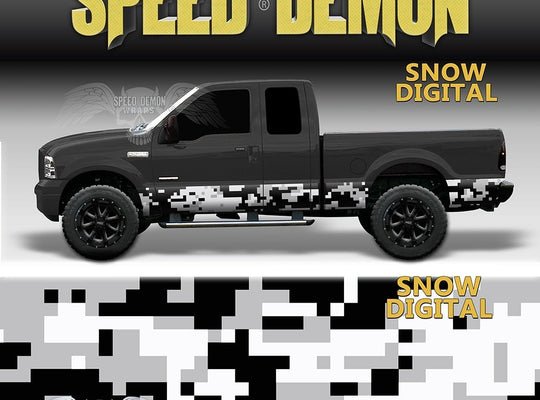 Rocker Panel Wrap Camo Kit Snow Digital Camouflage - Speed Demon Wraps