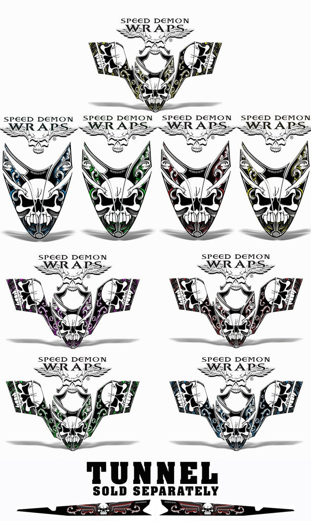 RMK Dragon Snowmobile sled HOOD GRAPHICS WRAP KIT Patriot - Speed Demon Wraps