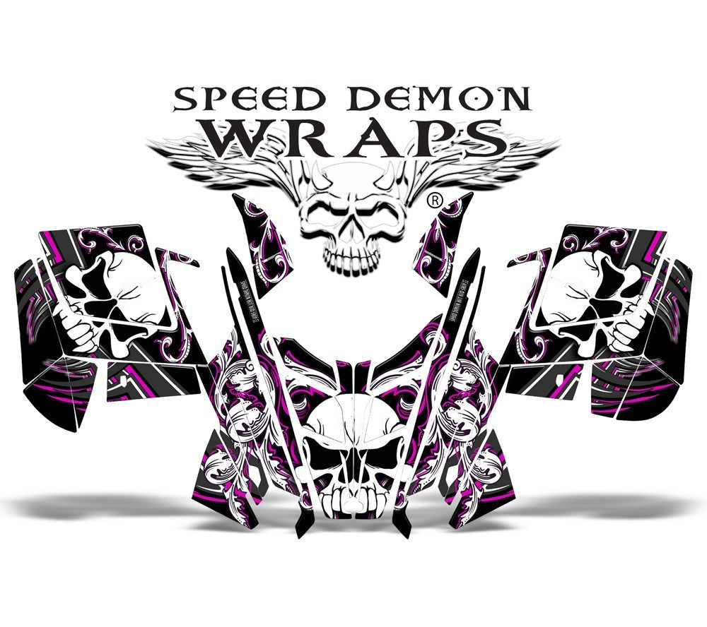 Pro RMK RUSH WRAP - SPEED DEMON PINK SKULLEN - Speed Demon Wraps