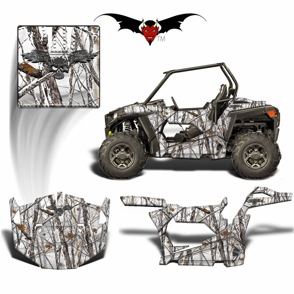 RZR 900 S GRAPHICS WRAP -  SNOWY WOODS CAMOUFLAGE - Speed Demon Wraps
