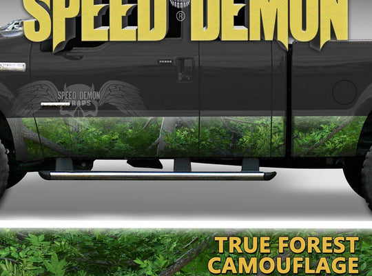 Rocker Panel Wrap Camo Kit True Forest Camouflage - Speed Demon Wraps