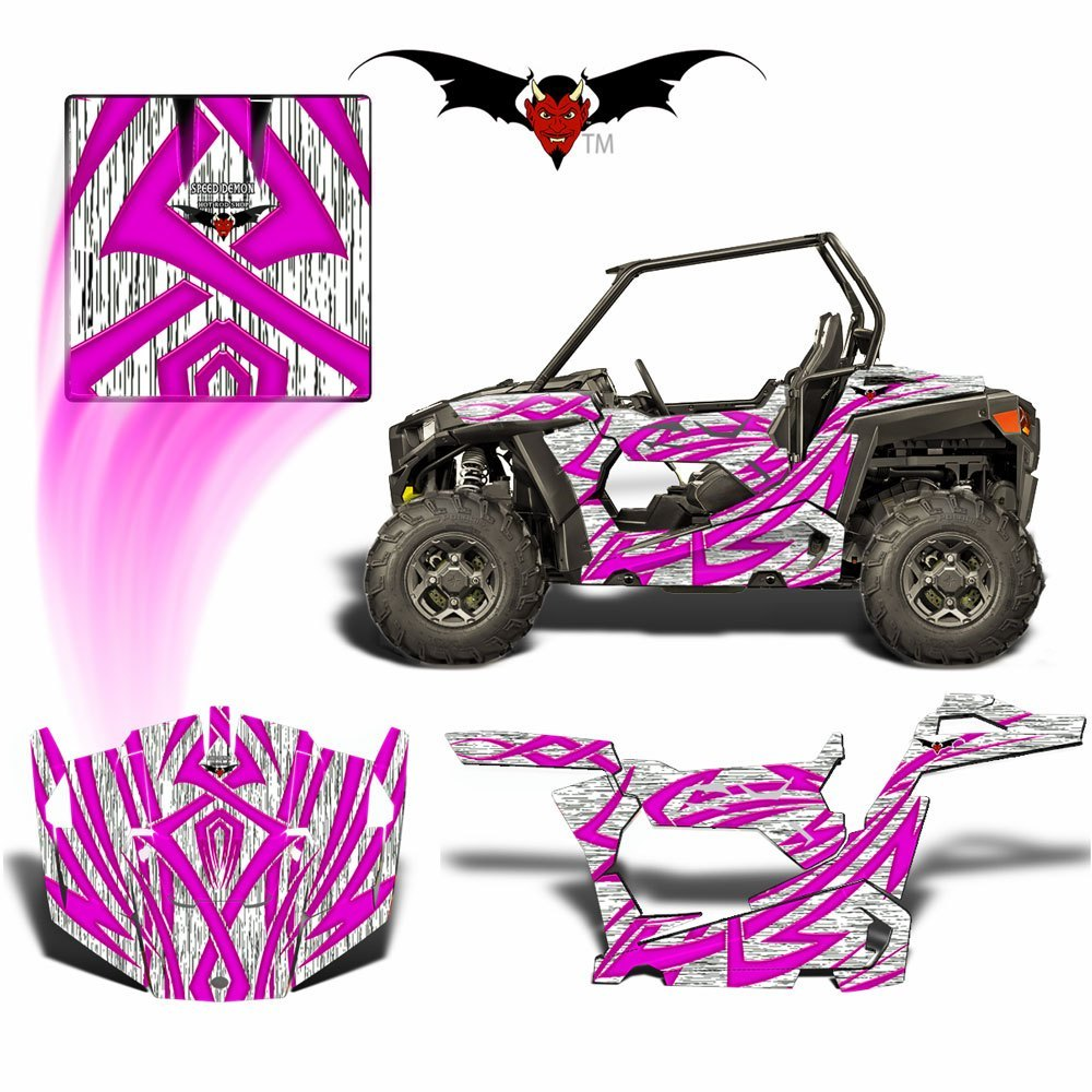 RZR 1000 XP GRAPHICS WRAP - TRIBAL FURY PINK - Speed Demon Wraps
