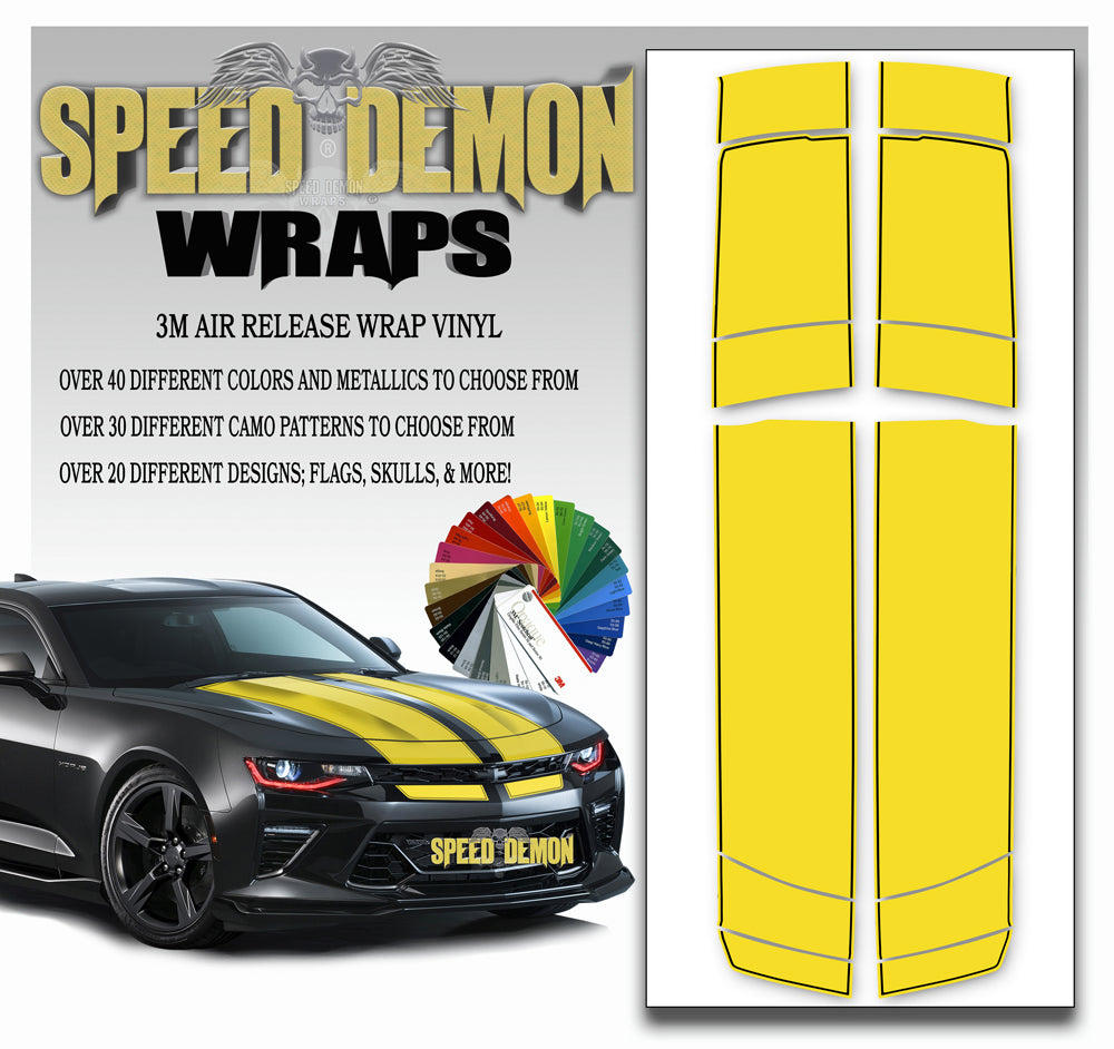 Camaro Stripes - Yellow with Black Pinstripe