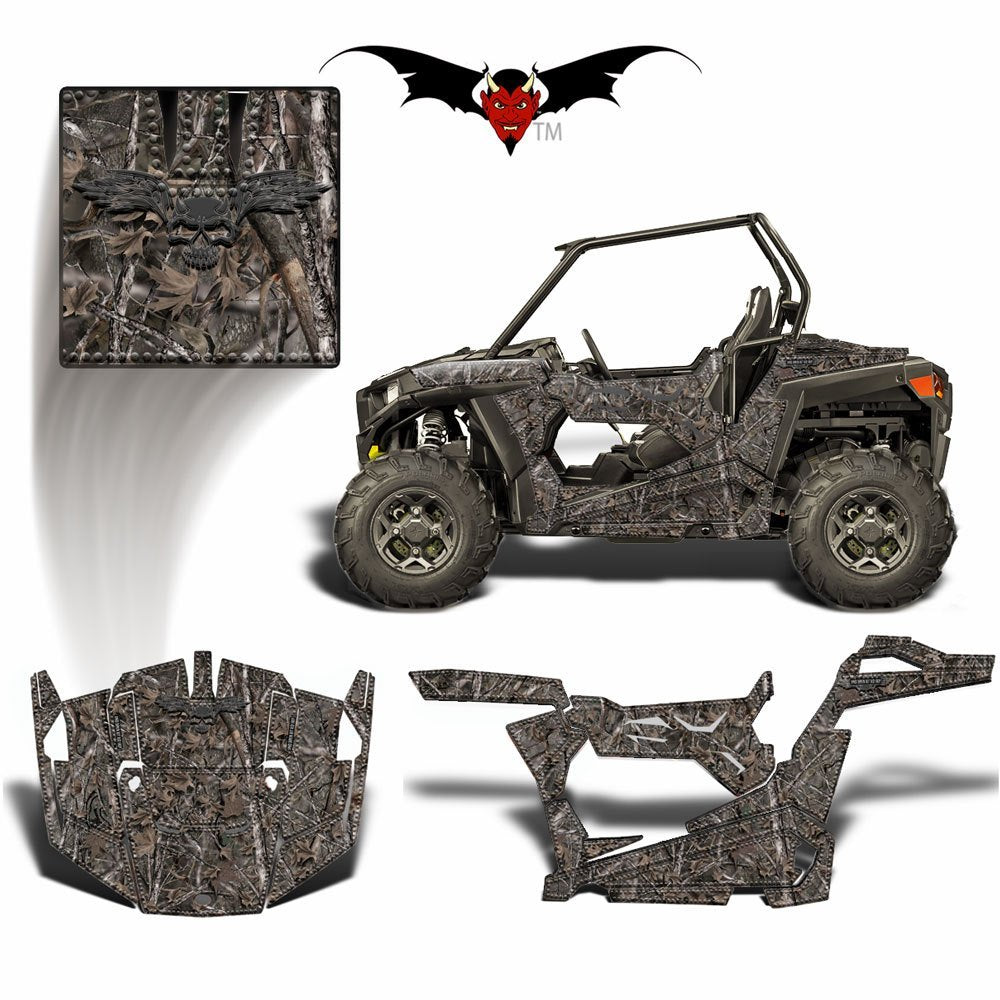 RZR 900 S GRAPHICS WRAP -  WOODSMAN CAMOUFLAGE - Speed Demon Wraps