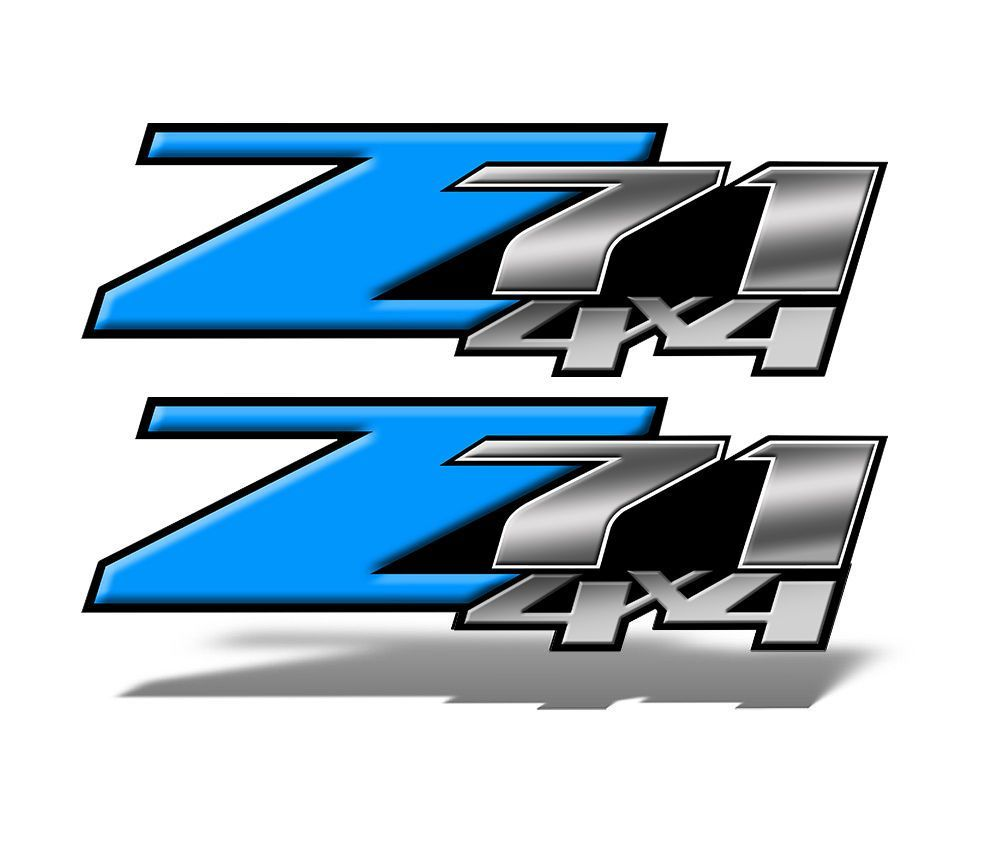 Z71 4x4 DECALS Light Blue