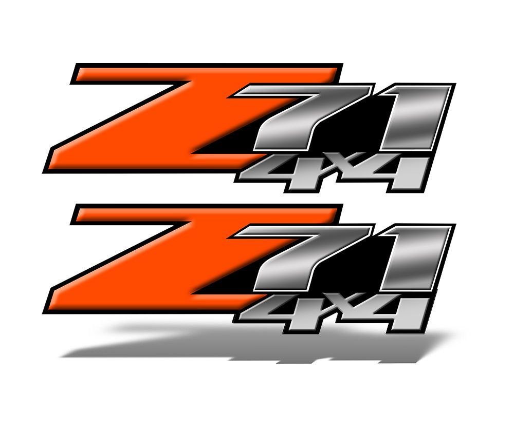 Z71 4x4 DECALS Orange