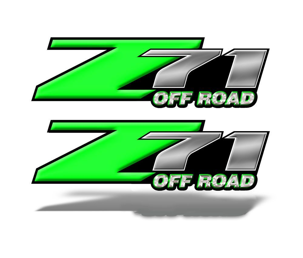 Z71 OFF ROAD Decals Green