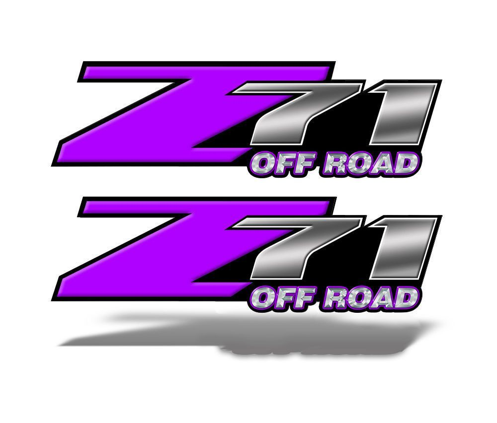Z71 OFF ROAD Decals Purple