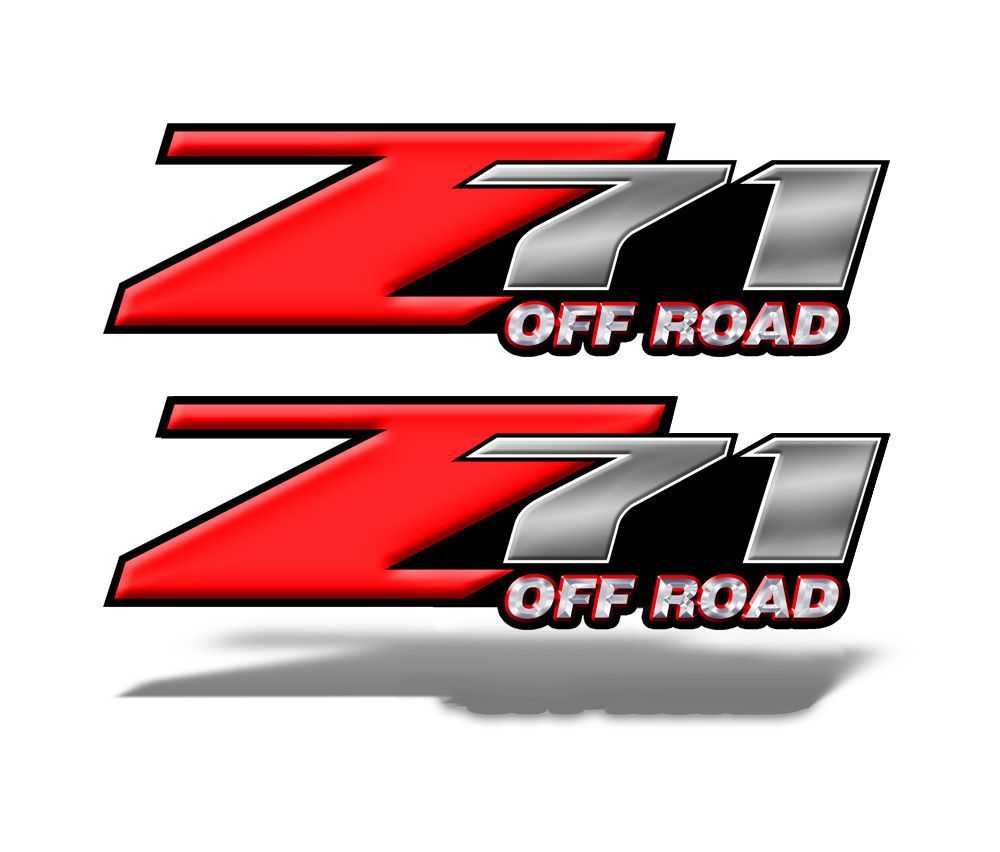Z71 OFF ROAD Decals Red